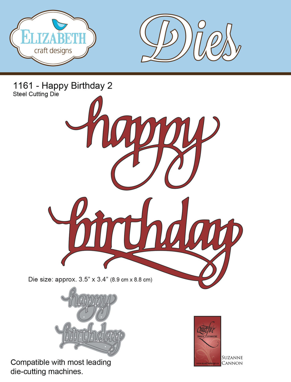 A Way With Words, Happy Birthday 2 - ElizabethCraftDesigns.com