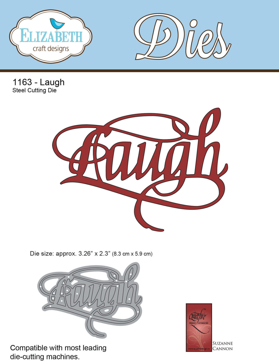 A Way With Words, Laugh - ElizabethCraftDesigns.com
