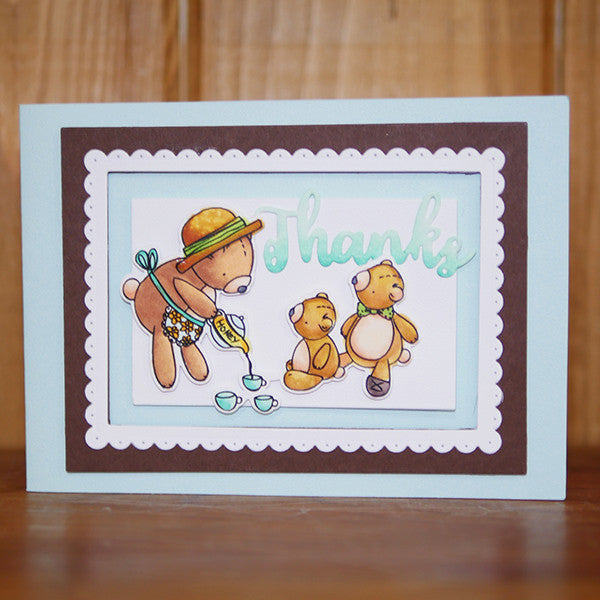 Teddy Bear Picnic Clear Stamps - Stamps - ElizabethCraftDesigns.com