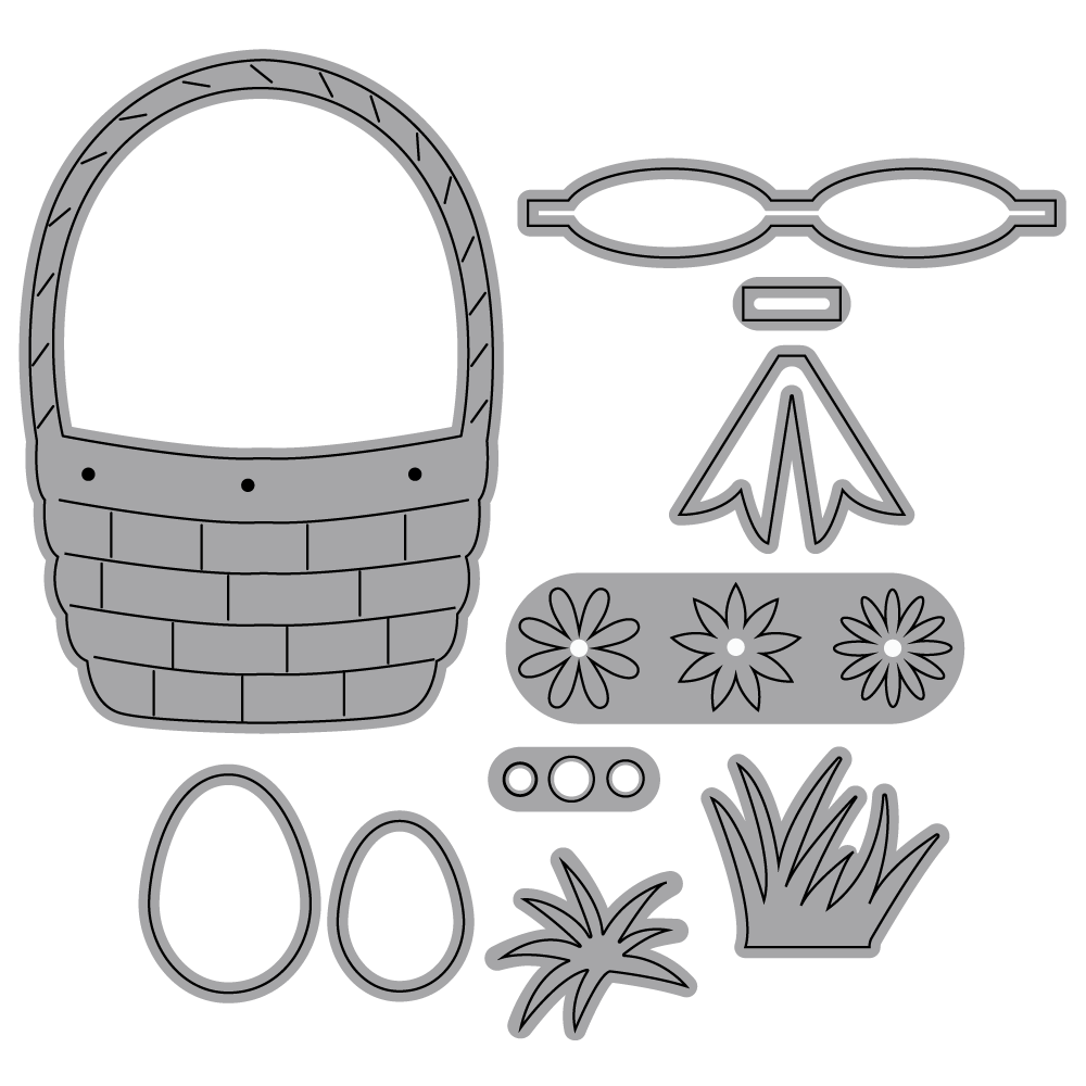 Die set - Spring Basket