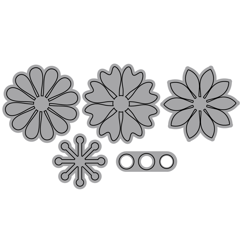 Die set - Large Flower Set