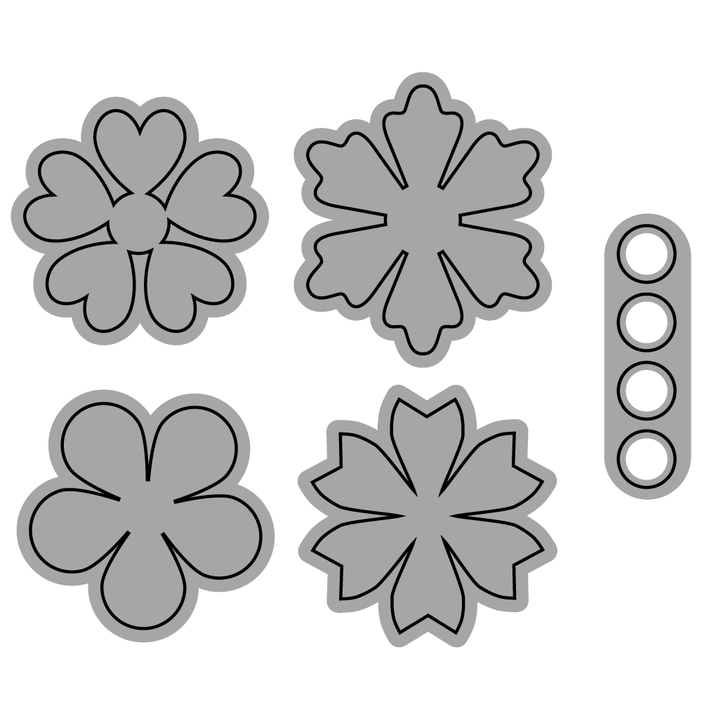 Die set - Small Flower Set