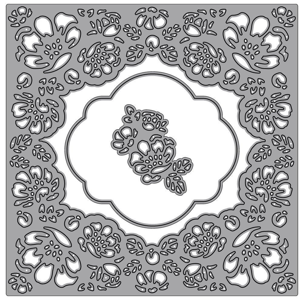 Flowers Lace Frame