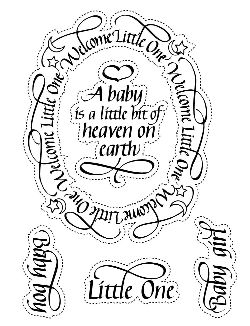 A Way With Words, Welcome Little One Stamps
