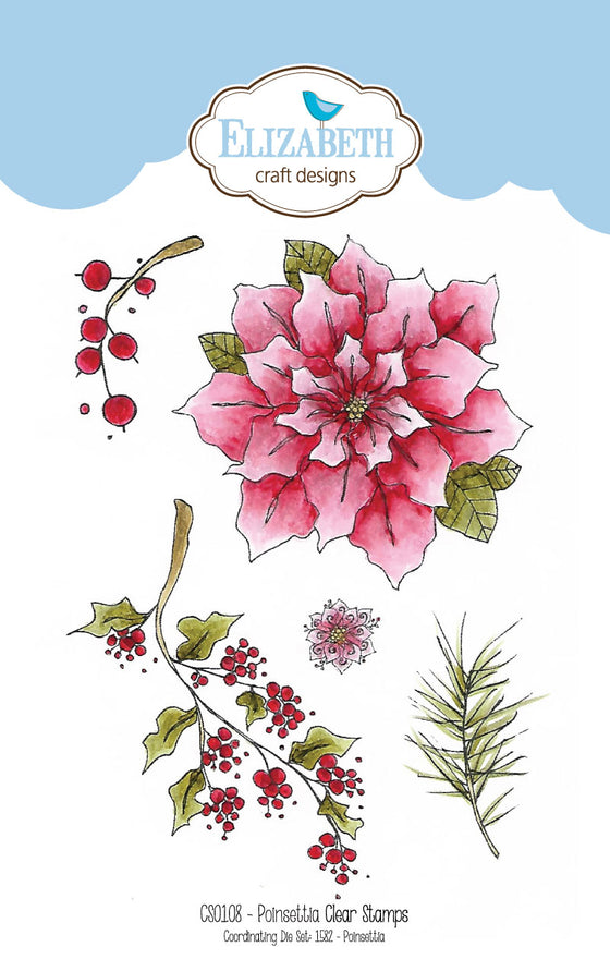 Poinsettia stamp set