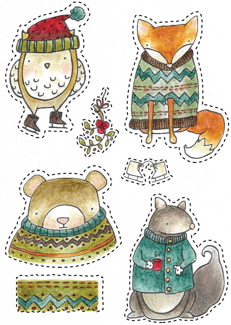 Winter Animals stamp set