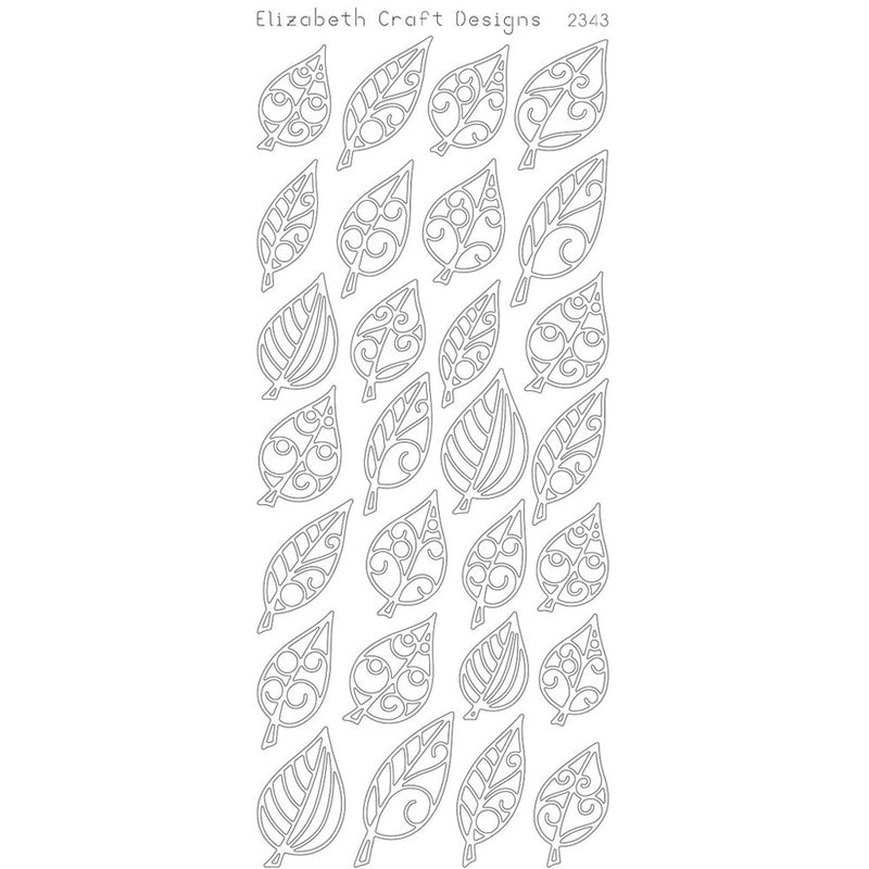 Leaves small (sku 2343) - Peel-Off sticker - ElizabethCraftDesigns.com