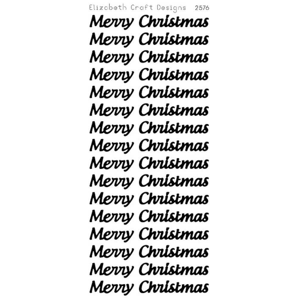 Merry Christmas Large (sku 2576) - Peel-Off sticker -  ElizabethCraftDesigns.com
