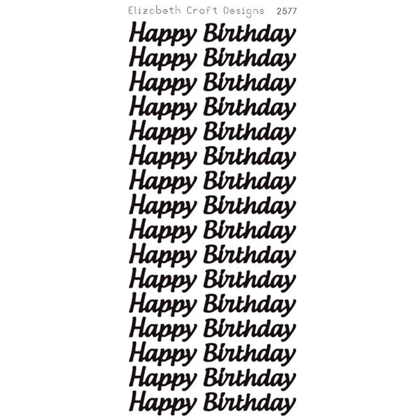 Sparkle Glitter Shimmer Happy Birthday PEEL OFF STICKERS Flowers Large
