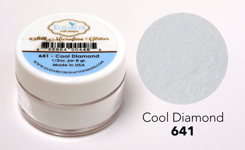 Cool Diamond - Silk Microfine Glitter - ElizabethCraftDesigns.com
