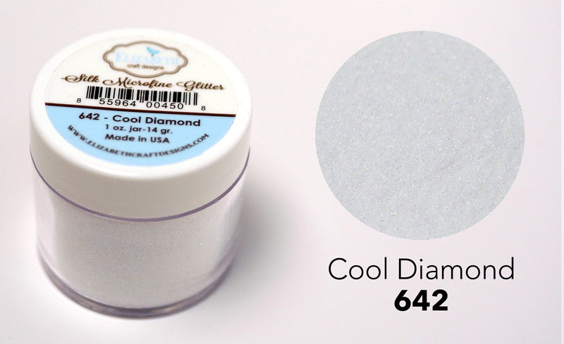Cool Diamond 1oz. - Silk Microfine Glitter - ElizabethCraftDesigns.com