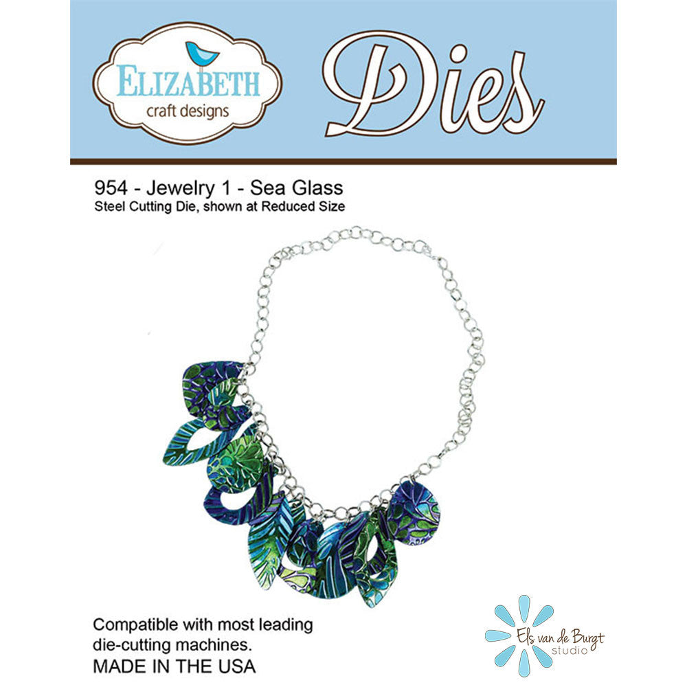Jewelry Set 1 - Sea Glass - Die - ElizabethCraftDesigns.com