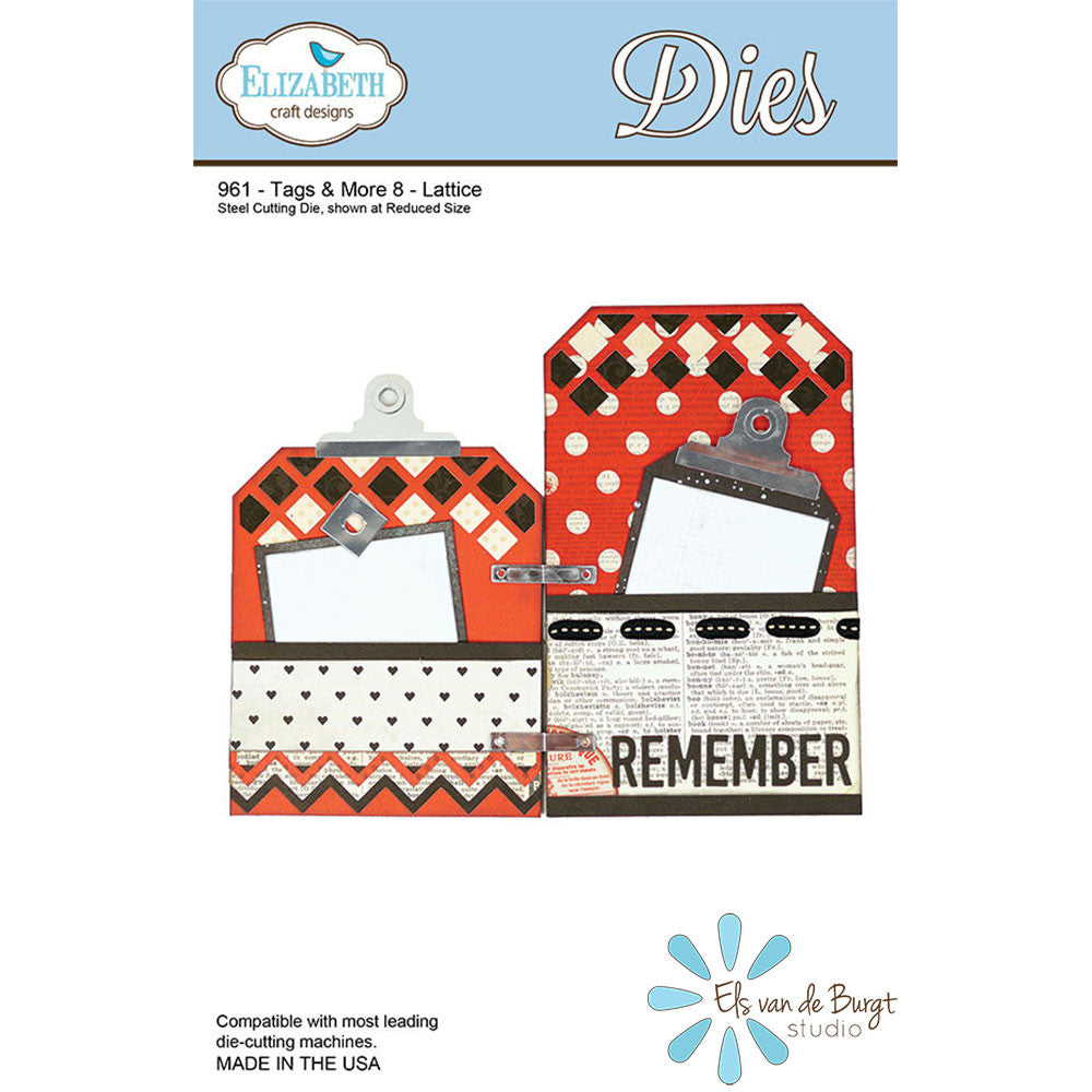 Tags & More 8 - Lattice - Die - ElizabethCraftDesigns.com