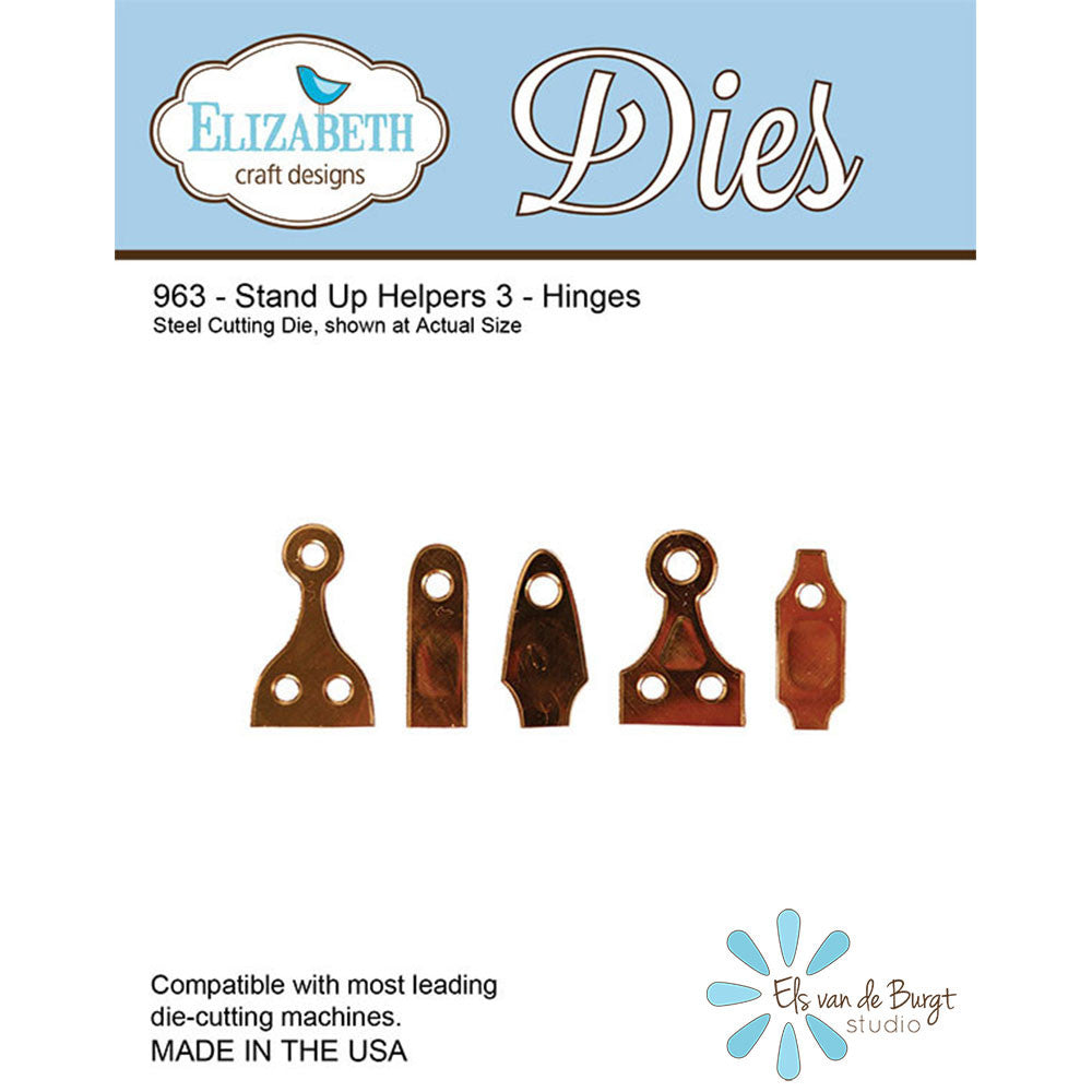Stand Up Helpers 3 - Hinges - Die - ElizabethCraftDesigns.com