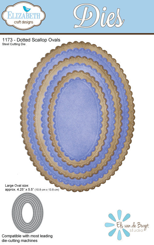 Dotted Scallop Ovals