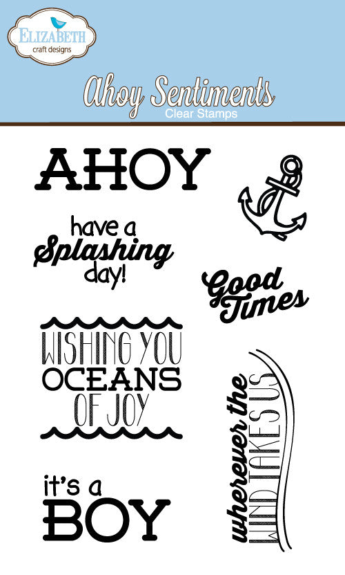 Clear Stamps - Ahoy Sentiments - ElizabethCraftDesigns.com