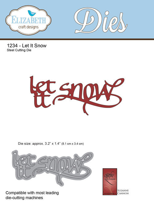 A Way With Words, Let It Snow - Die - ElizabethCraftDesigns.com