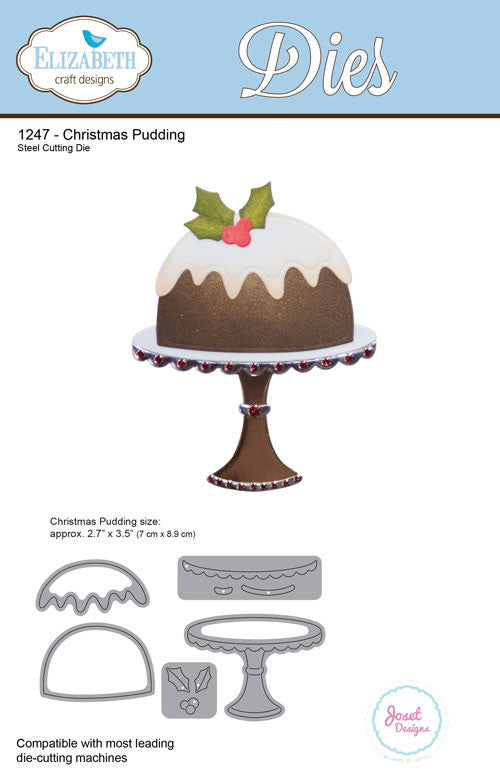 Christmas Pudding - Die - ElizabethCraftDesigns.com