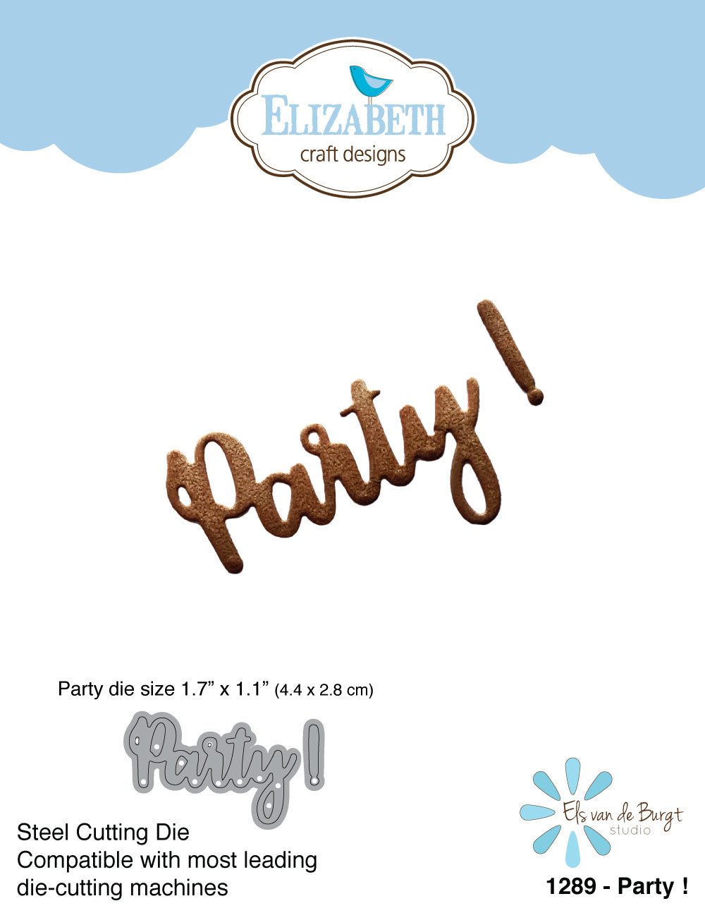 Party ! - Die - ElizabethCraftDesigns.com
