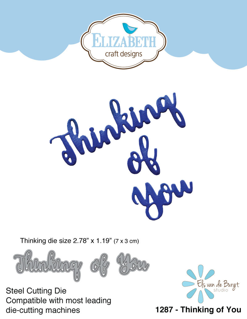 Thinking of You - Die - ElizabethCraftDesigns.com