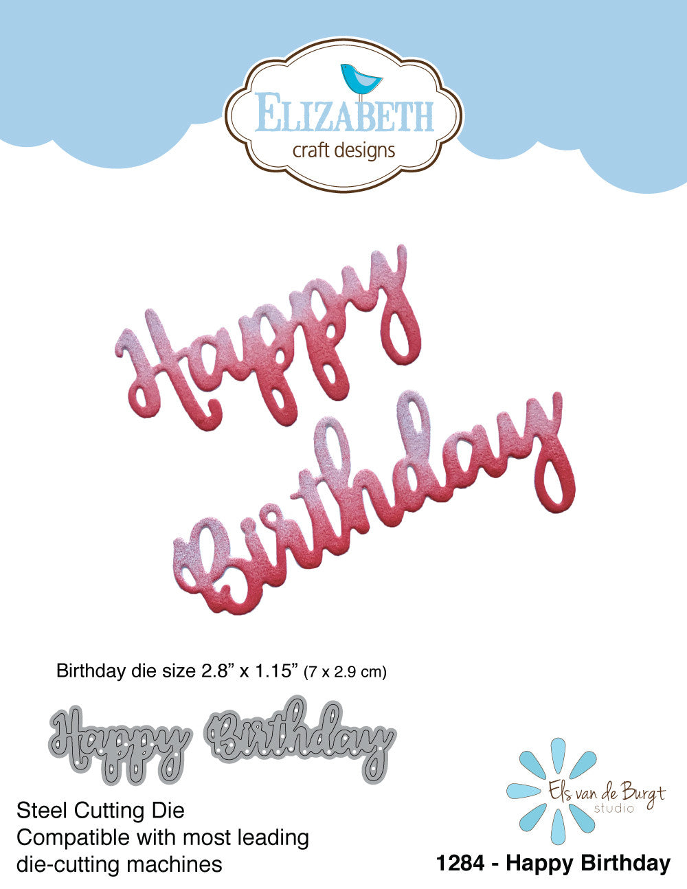 Happy Birthday - Die - ElizabethCraftDesigns.com