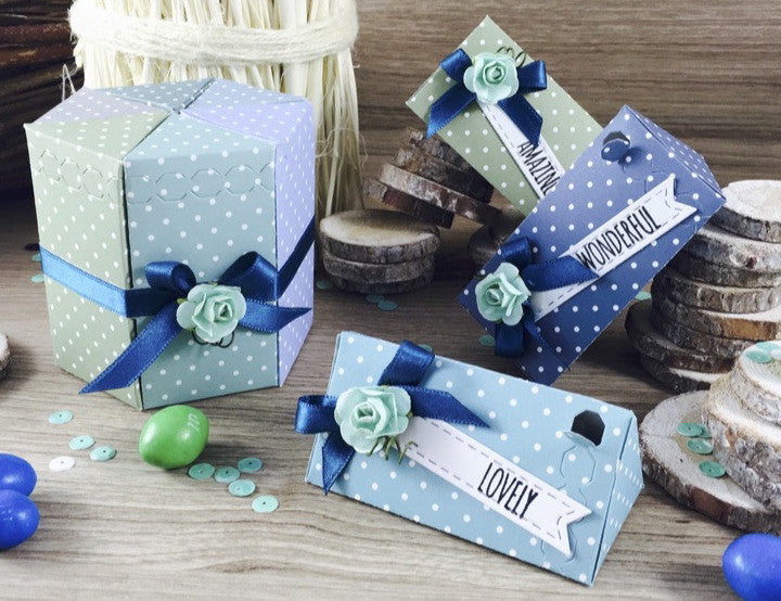 Triangle Treat Box - Die - ElizabethCraftDesigns.com