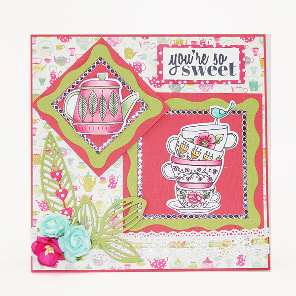 Tea Time Clear Stamps - Stamps - ElizabethCraftDesigns.com
