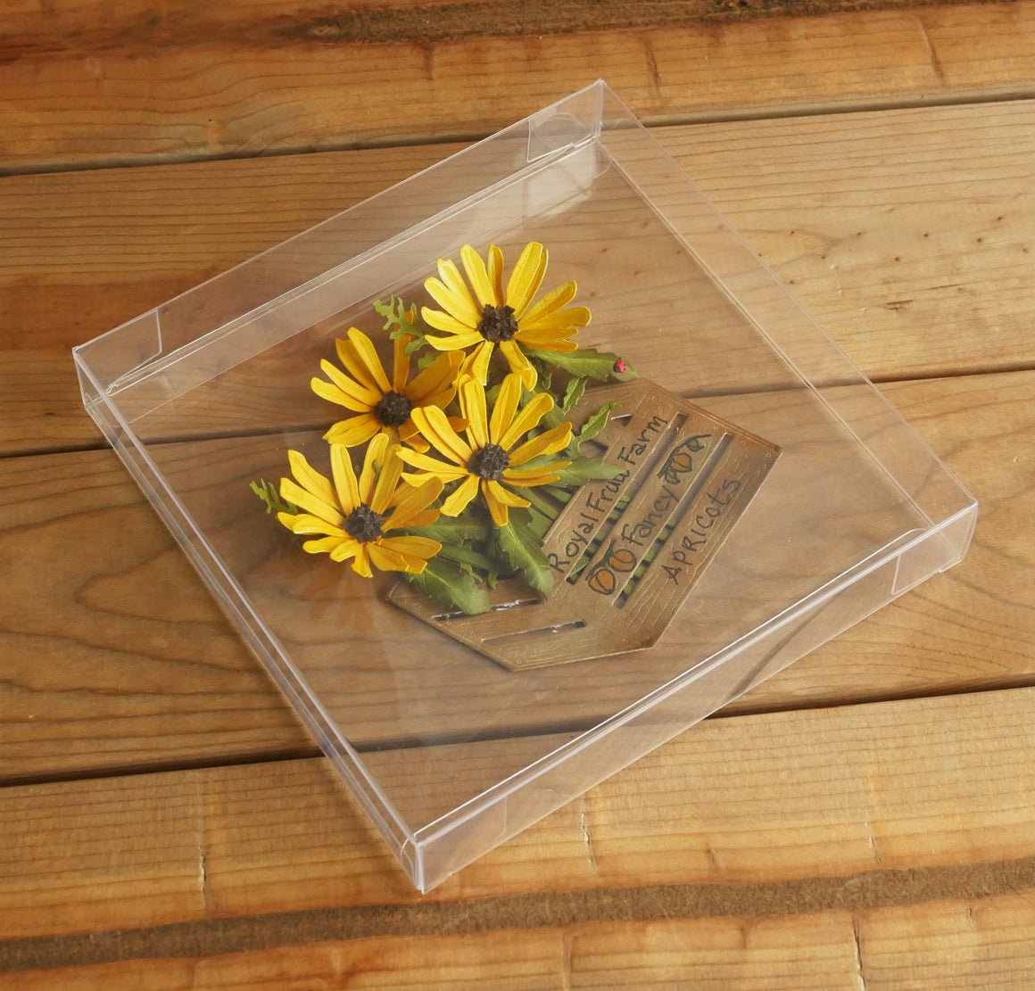 "6 3/8"" x 1"" x 6 5/16"" Clear Box - 10 Pack"