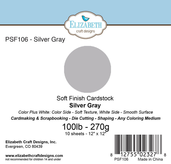 Soft Finish Cardstock, Silver Gray