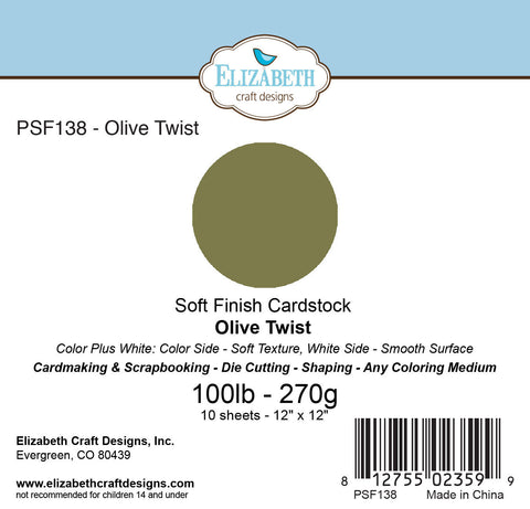 Soft Finish Cardstock, Olive Twist