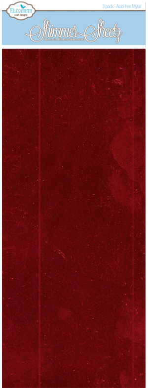 Raspberry Metallic - 3 Pack - Shimmer Sheetz - ElizabethCraftDesigns.com