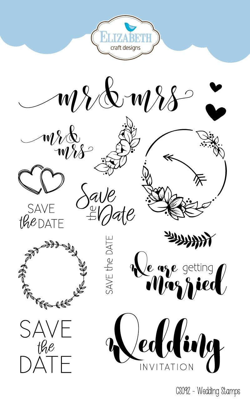 Stamp set Wedding Sentiments ElizabethCraftDesignscom
