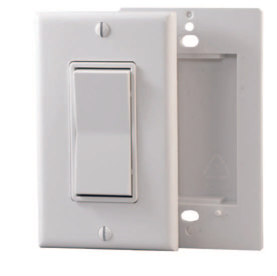 Decorator Style Switch with Barrier Plate