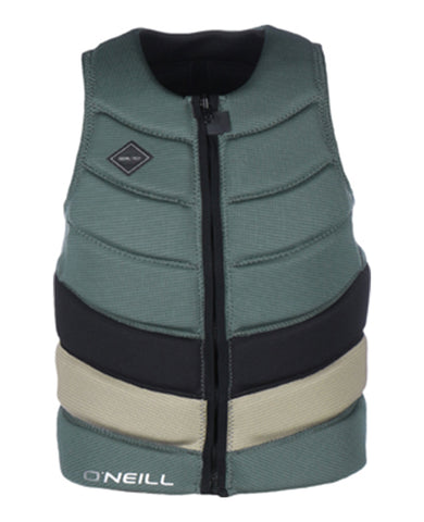 O'neill Gooru Tech Front Zip Comp Vest Green