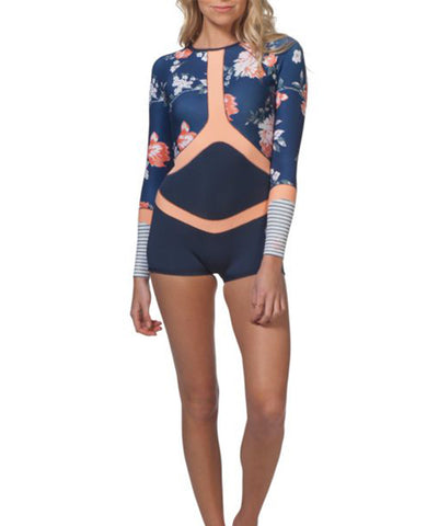 Rip Curl G-Bomb Madison Floral Springsuit Navy