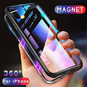 Shock Armour Magnetic Phone Cases For Iphone With Or Without Front Tempered Glass. (Multiple Colors)