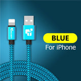 Durable Braided Armor USB Cable For IPhone (Multiple Colors)