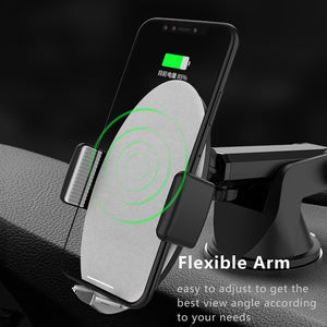 Shock Armour Qi Wireless Car Charger Dash Board/Windshield Mount Universal