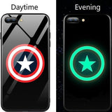 Superhero Luminous Glass Phone Cases for Samsung ..........(Several Different Characters)
