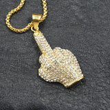 Colgante de F$#K You con CZ AAA+ de Vogue Jewelry