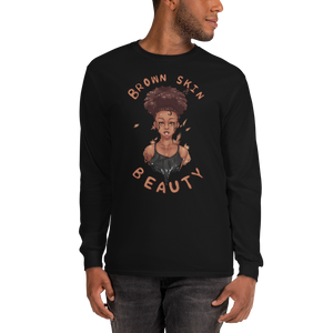 Brown Skin Beauty Long Sleeve Tee