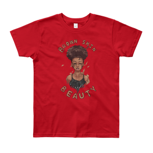 Brown Skin Beauty Youth Short Sleeve T-Shirt