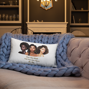 Know Your Worth Premium Pillow