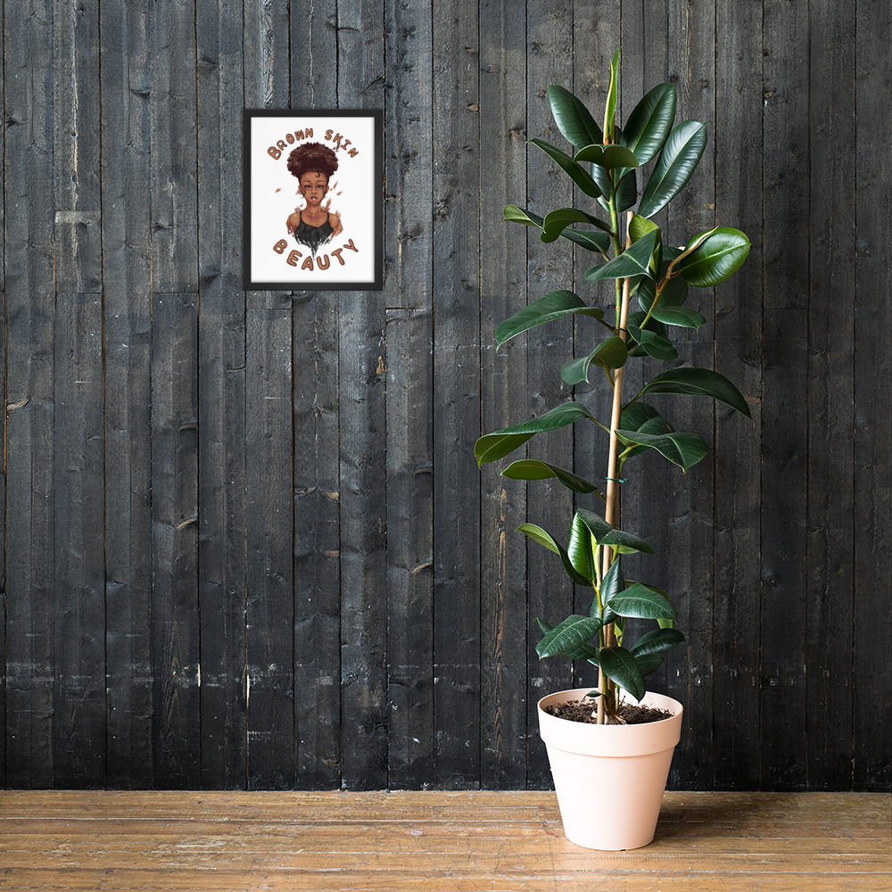 Brown Skin Beauty Matte Framed poster