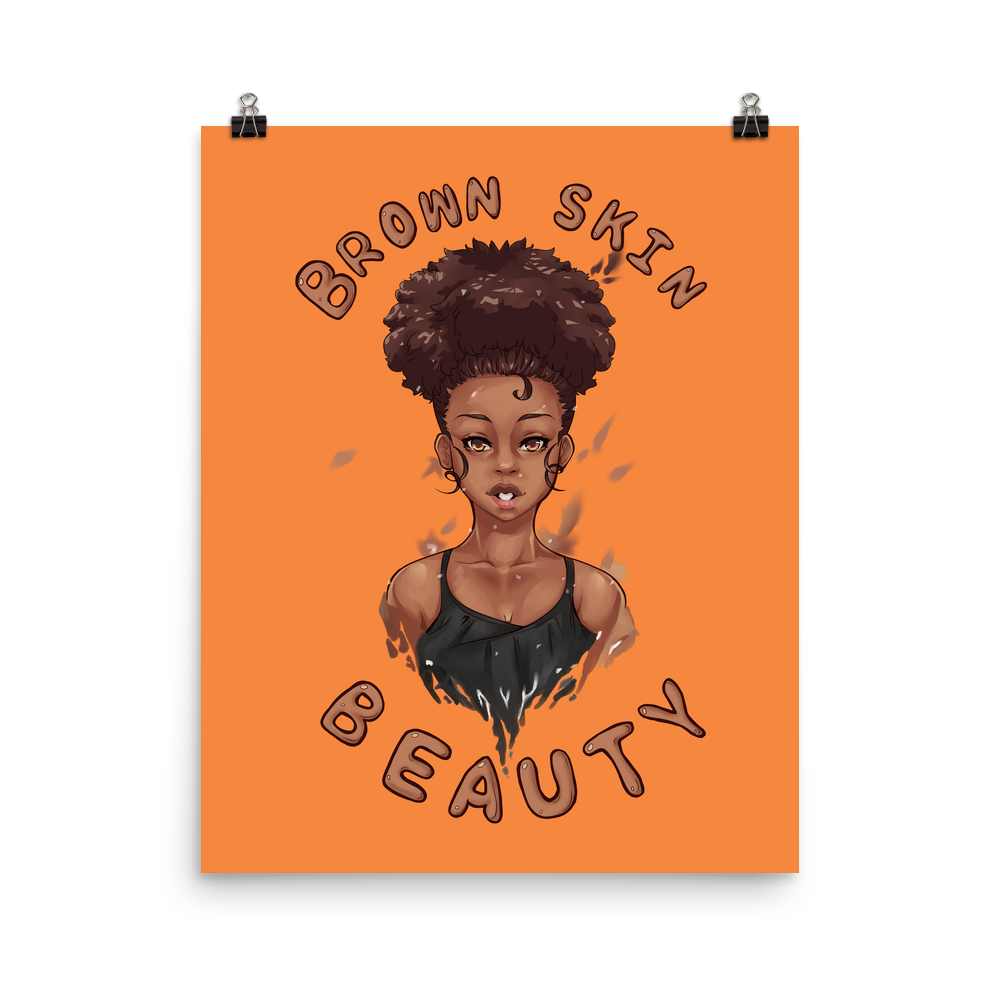 Brown Skin Beauty Poster