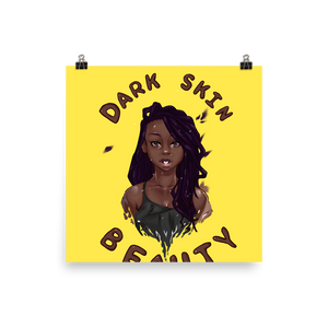 Dark Skin Beauty Poster