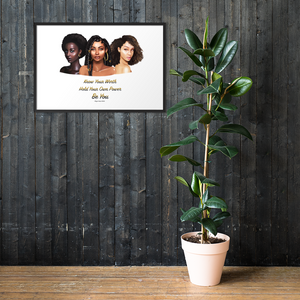 Know Your Worth Framed matte paper poster