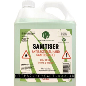 HAND SANITISER GEL - HOSPITAL GRADE 75% ALCOHOL - 5 LITRES