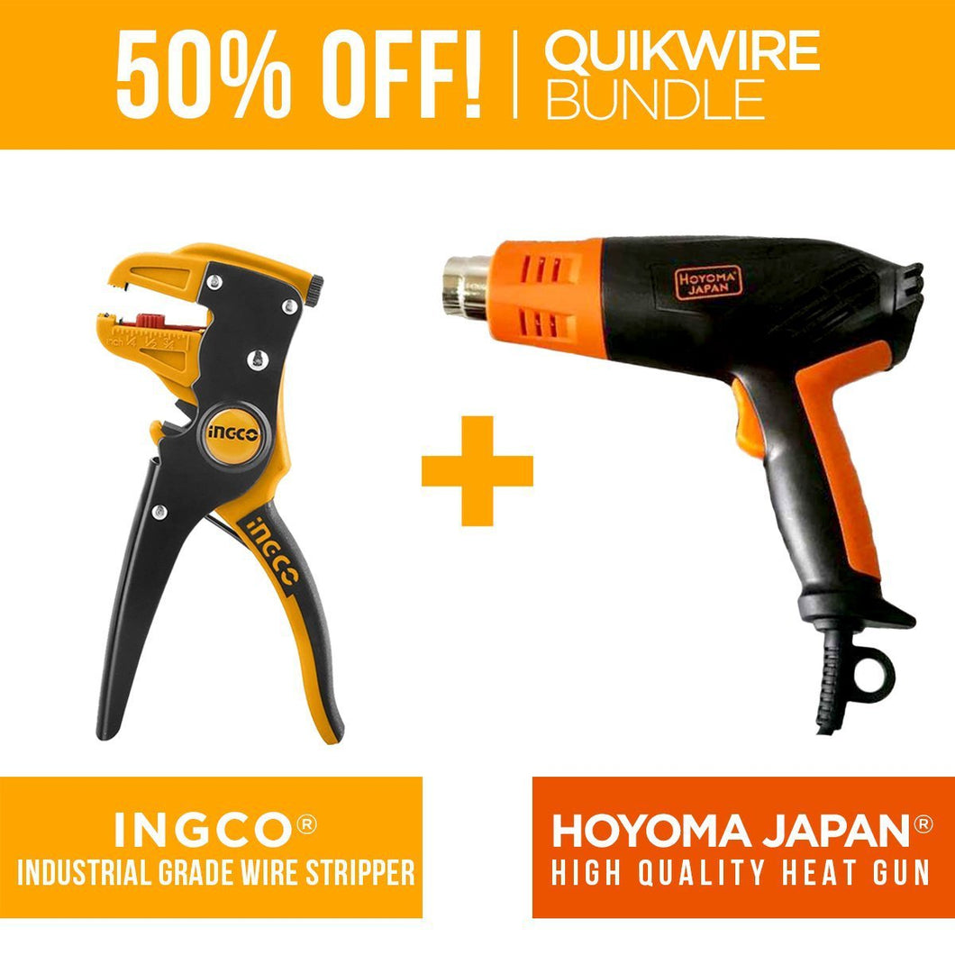 QUIKWIRE BUNDLE: Wire Stripper + Heat Gun
