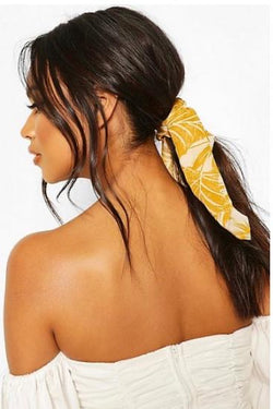 Palm Print Scrunchie & Hair Tie